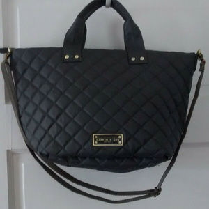 Quilted Zsa Zsa Bag/ Tote/ Purse in Charcoal Gray